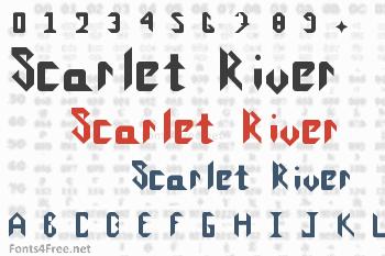 Scarlet River Font