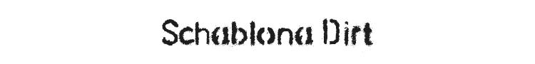 Schablona Dirt Font Preview