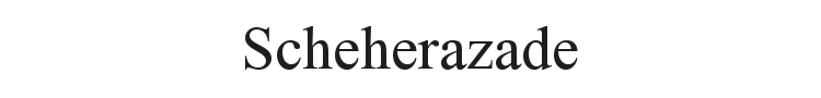 Scheherazade Font Preview