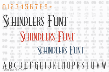 Schindlers Font Font