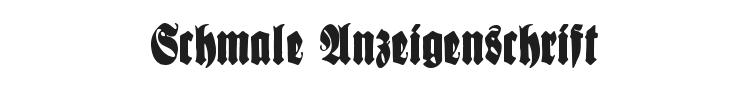 Schmale Anzeigenschrift Font Preview