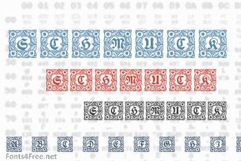 Schmuck Initialen Font