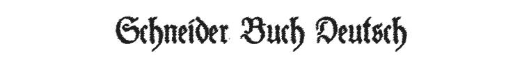 Schneider Buch Deutsch Font Preview