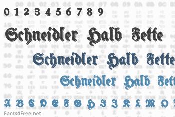 Schneidler Halb Fette Font
