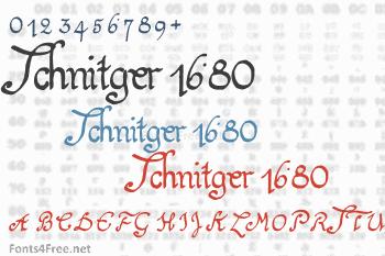 Schnitger 1680 Font