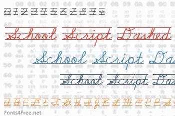 School Script Dashed Font