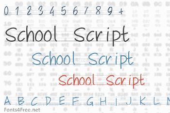 School Script Font
