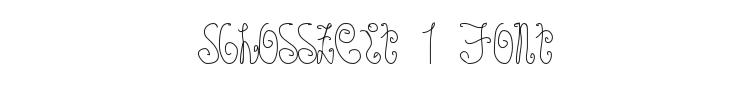 Schosszeit 1 Font