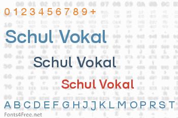 Schul Vokal Font