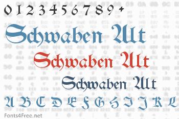 Schwaben Alt Font