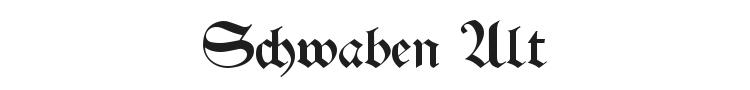 Schwaben Alt Font Preview
