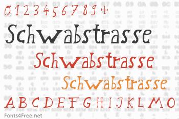 Schwabstrasse Font