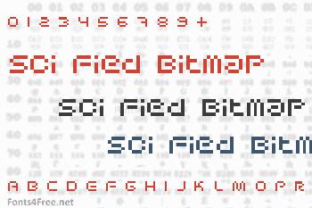 Sci Fied Bitmap Font