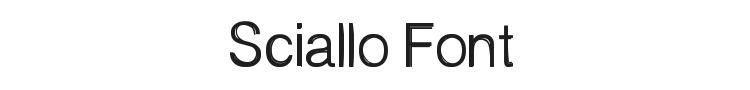 Sciallo Font Preview
