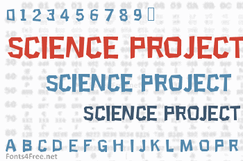 Science Project Font