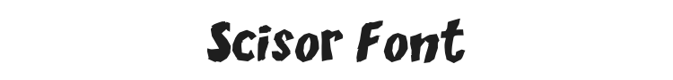 Scisor Font Preview