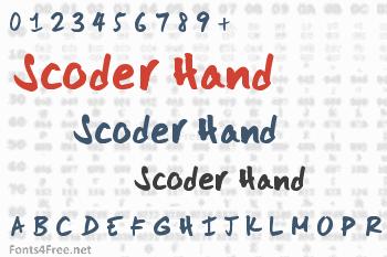 Scoder Hand Font