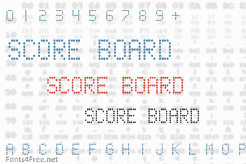 Score Board Font