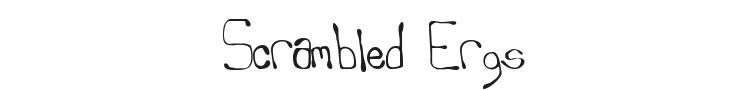 Scrambled Ergs Font Preview