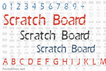 Scratch Board Font
