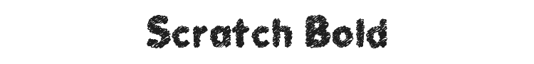 Scratch Bold Font Preview