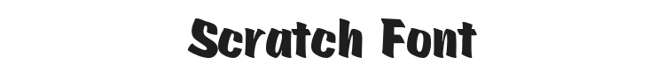 Scratch Font Preview