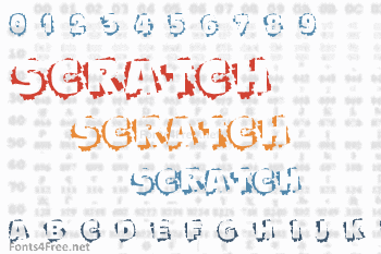 Scratch To Reveal Font