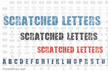 Scratched Letters Font
