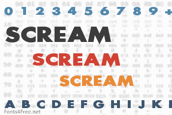 Scream Font