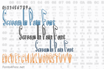 Scream In Pain Font
