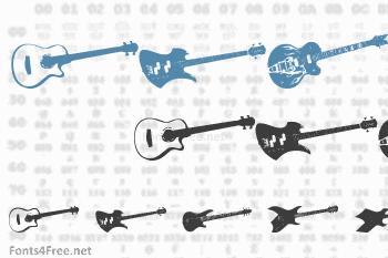 Screaming Guitar Font