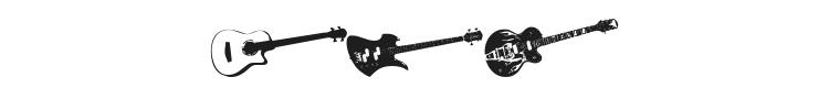 Screaming Guitar Font Preview