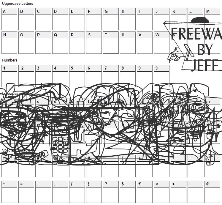 Screen Scrawls Font Character Map