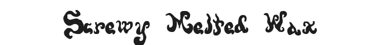 Screwy Melted Wax Font