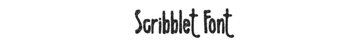 Scribblet Font Preview