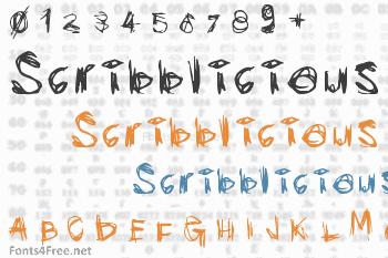 Scribblicious Font