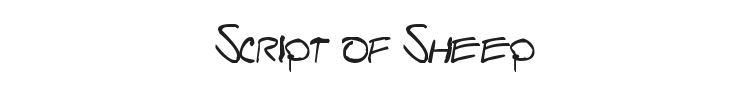 Script of Sheep Font Preview