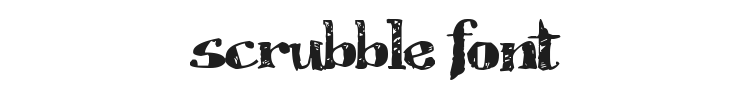 Scrubble Font Preview
