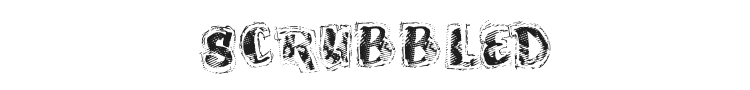 Scrubbled Font