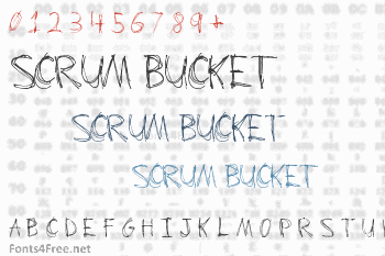 Scrum Bucket Font