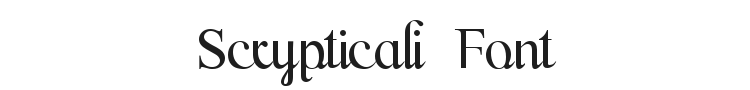Scrypticali Font Preview