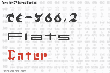 07 Seven Section Fonts