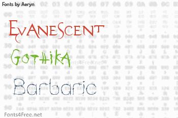 Aeryn Fonts