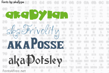 akaType Fonts