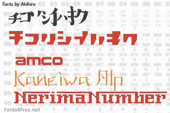 Akihiro Fonts