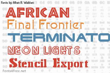 Allen R. Walden Fonts