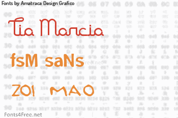 Amatraca Design Grafico Fonts
