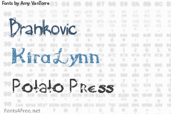 Amy VanTorre Fonts