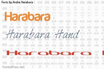 Andre Harabara Fonts