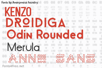 Anonymous foundry Fonts